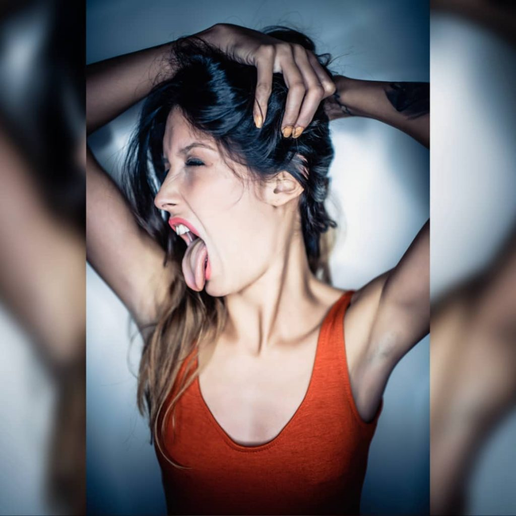 Amazing day with @miriam_elb #BOLOGNASHOOTINGWEEK #tongue #portrait #portraits #hand #scream #armpit #underarm